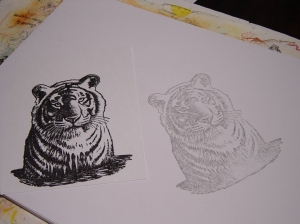 Tiger from Rubber Stamp Avenue